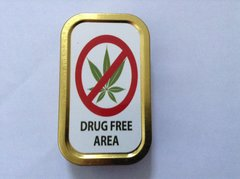Drug free area 1oz tin