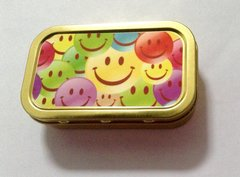 Multi smiley face 1oz tin