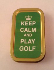 Keep calm and play golf 1oz tin