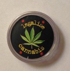 Clear mini grinder. legalise cannabis