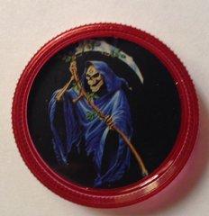Red mini grinder. Grim reaper