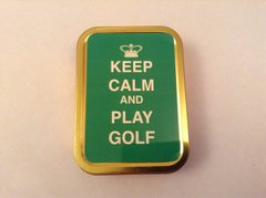 Keep calm and play golf 2oz tin