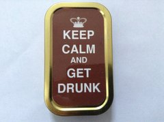 Keep calm and get drunk 1oz tin