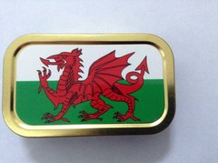 Welsh flag 1oz tin
