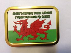 Welsh flag statement 2oz tin