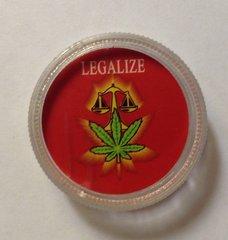 Clear mini grinder. Legalize