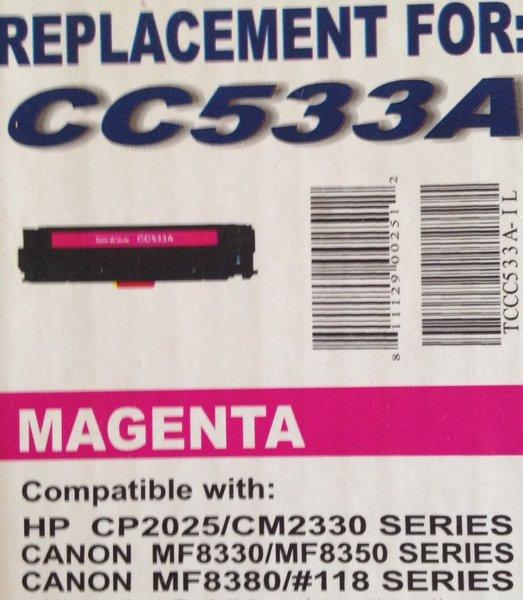 HP CC533A (304A) Magenta Toner Cartridge
