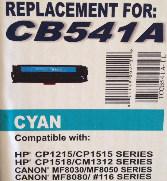 HP CB540/541/542/543A 4 Pack - (HP 125A)
