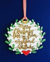 Wooden Handpainted Personalised Christmas Wreath
