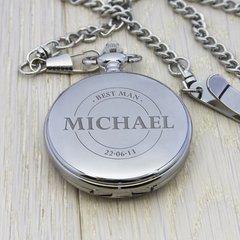 Personalised Groomsman Emblem Pocket Watch