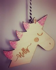 Unicorn Hanging Decoration Personalised