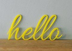 Acrylic Word Hello