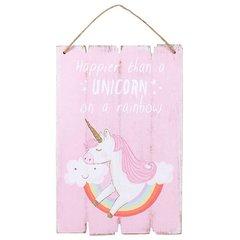 Unicorn Wooden Plaque Sign