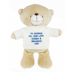 Personalised Forever Friends Bear with Jumper - Blue