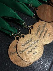 Personalised Wooden Medals
