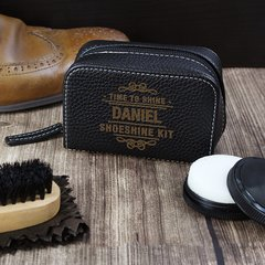 Personalised Time to Shine Shoeshine Kit