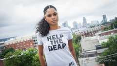 Women's Fitted Original Help The Bear T-Shirt