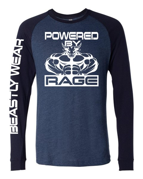 Powered By Rage Raglan Shirt