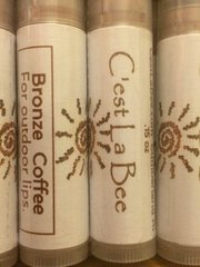Coffee bronze lip balm with Alkanet Root Powder