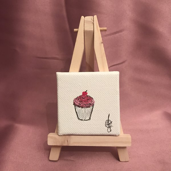 """""""Cherry on Top"""" Limited Edition 1 of 1 *Comes with Easel + Gift Wrap* FREE SHIP"""