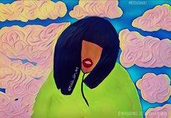 """I can't stand the rain"" art print 4x6 inch"