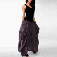 B08 The One and Only Sexy Grape Twist Purple Maxi Skirt