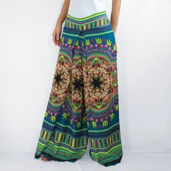 B07 Asana Women Emerald Green Tribal Mandalas Comfy Pants