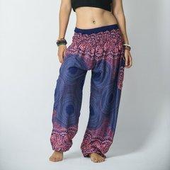 E05 Genie Mandalas Blue Pink Harem Pants w. Pockets