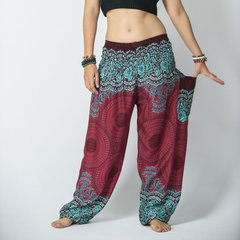 A05 Genie Mandalas Red Harem Pants w. Pockets