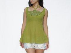 C05 Chakra Sexy Cute Women Apple Green Lace Crochet Top Halter Neck
