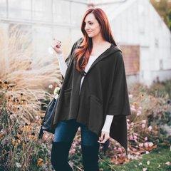 A10 Shadow Women Gray Hoodie Coat Hoodie Jacket Cotton Cape