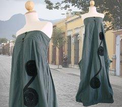 B09 Infinity Women Long Summer Dark Gray Strapless Maxi Dress