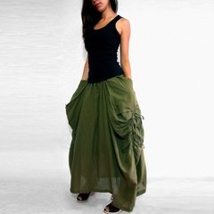 A02 The One and Only Women Army Olive Green Skirt