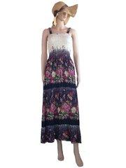 I13 Caribbean Ivory Women Floral Long Maxi Dress