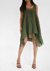 C07 Summer Flirt Summer Green Women Beach Layered Mini Dress Babydoll Festival Dress
