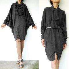 A24 The Mystery Boho Oversized Women Black Tunic Dress