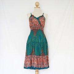 F07 Ratree Women Mandalas Turquoise Mini Dress Knee Length
