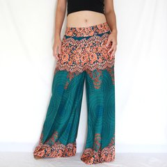 C12 Asana Women Loose Comfy Wide Leg Pants in Turquoise