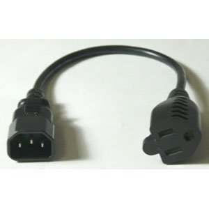 MICRO CONNECTORS Monitor Power Adapter Cord 1ft