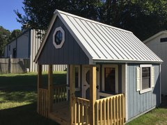 8x12 Blue Playhouse w/ Porch