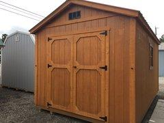 10x16 A-Frame Cedar/Crimson Roof