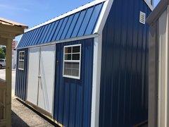 10x16 Amish Gallery Blue w/ White Trim
