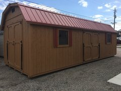 12x28 Handiman Cedar w/ Red Roof