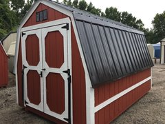 8x12 Red/White Wall Barn