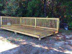 Used 8x16 Treated Wood Platform Deck