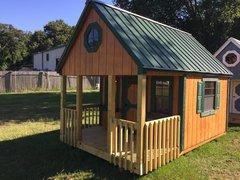8x12 Cedar Playhouse w/ Porch