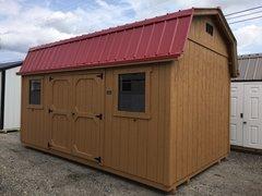 10x16 Amish Cedar w/ Cremson Red