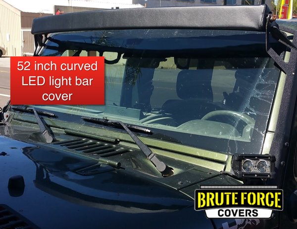 52 inch curved double row led light bar cover brute force covers 52 inch curved double row led light bar cover aloadofball Gallery