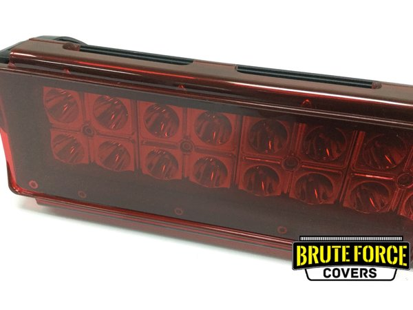 8 Inch Red Polycarbonate Cover Brute Force Covers