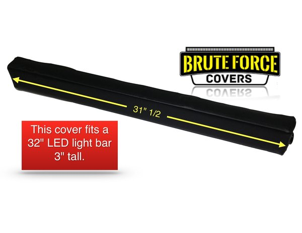 32 Inch Straight Double Row Led Light Bar Cover Brute